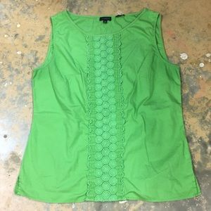 Green Talbots tank top